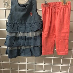 US POLO ASSN GIRLS- TODDLER SET- Y4FN87CPV-CHAMB